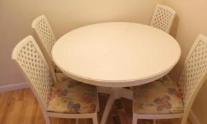 stół okrągły rozsuwany - zdjęcie