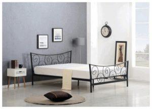 łóżko metalowe 120x200